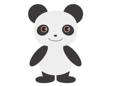 かわいいパンダ(全身)のイラスト素材