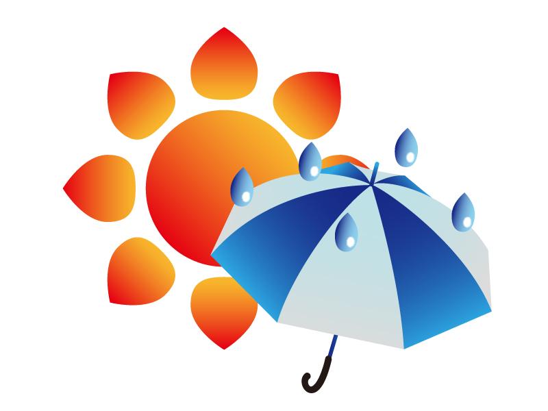 天気・晴れのち雨マークのイラスト素材