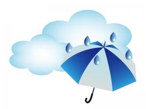 天気・曇のち雨マークのイラスト素材