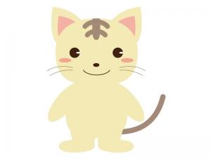 かわいいネコ(全身)のイラスト素材