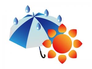 天気・雨のち晴れマークのイラスト素材