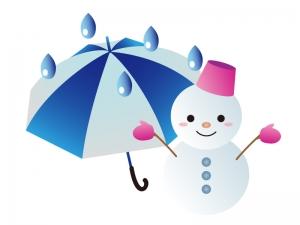 天気・雨のち雪マークのイラスト素材