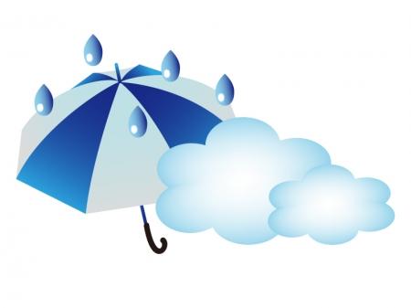 天気・雨のち曇マークのイラスト素材