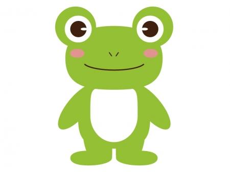 かわいいカエル(全身)のイラスト素材