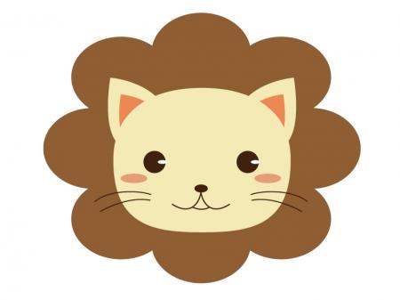 かわいいライオンのイラスト素材