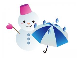 天気・雪のち雨マークのイラスト素材