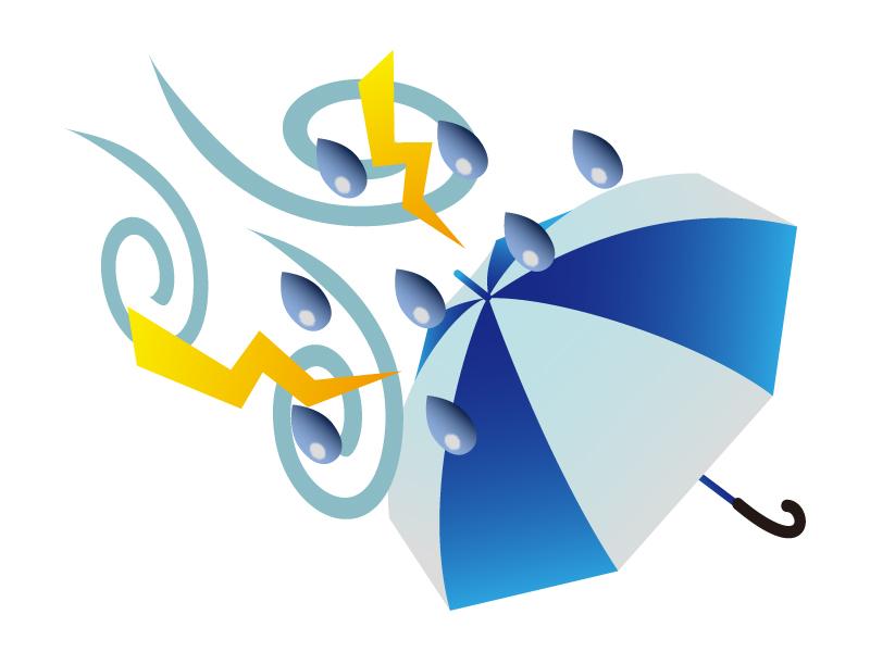 天気・台風・嵐マークのイラスト素材
