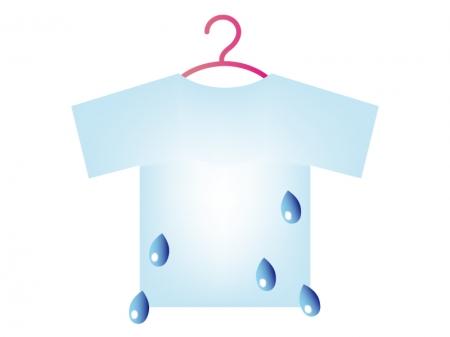 天気・洗濯不向きマークのイラスト素材