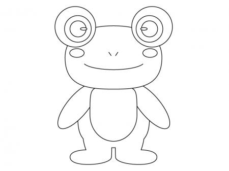 カレンダー 2014年六曜カレンダー : ぬりえ素材・かわいいカエル ...