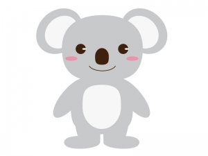 かわいいコアラ(全身)のイラスト素材