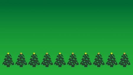 クリスマスツリー背景緑の壁紙・背景素材 1,920px×1,080px