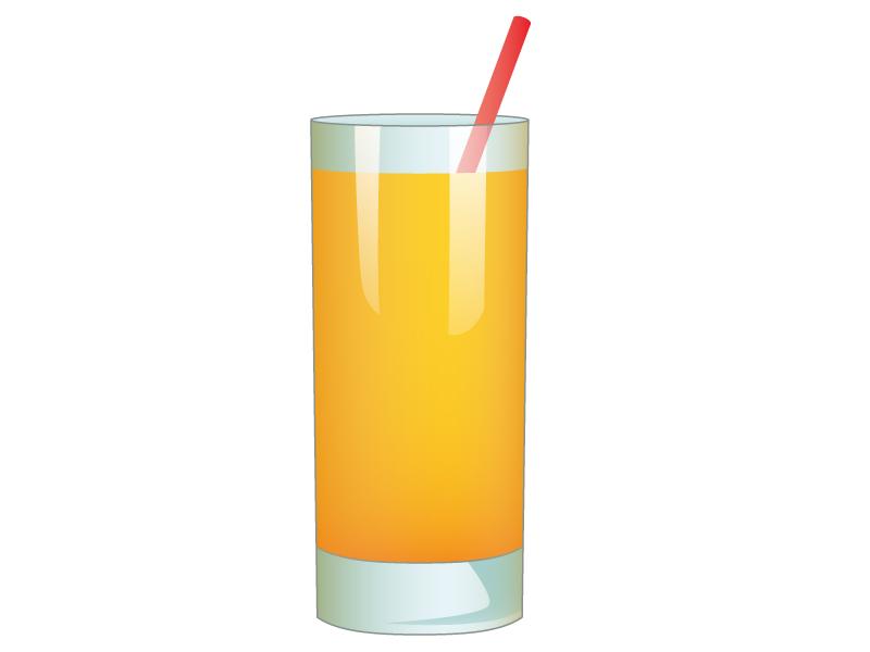 オレンジジュースのイラスト素材