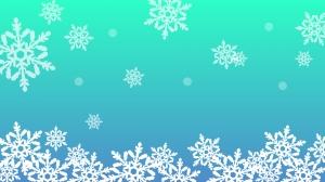 冬をイメージした雪の結晶の壁紙・背景素材 1,920px×1,080px