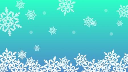 冬をイメージした雪の結晶の壁紙・背景素材 1,920px×1,080