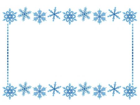 雪の結晶(ブルー)のフレーム・枠素材