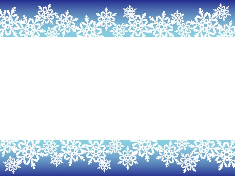 雪の結晶(ブルー)のフレーム・枠素材02