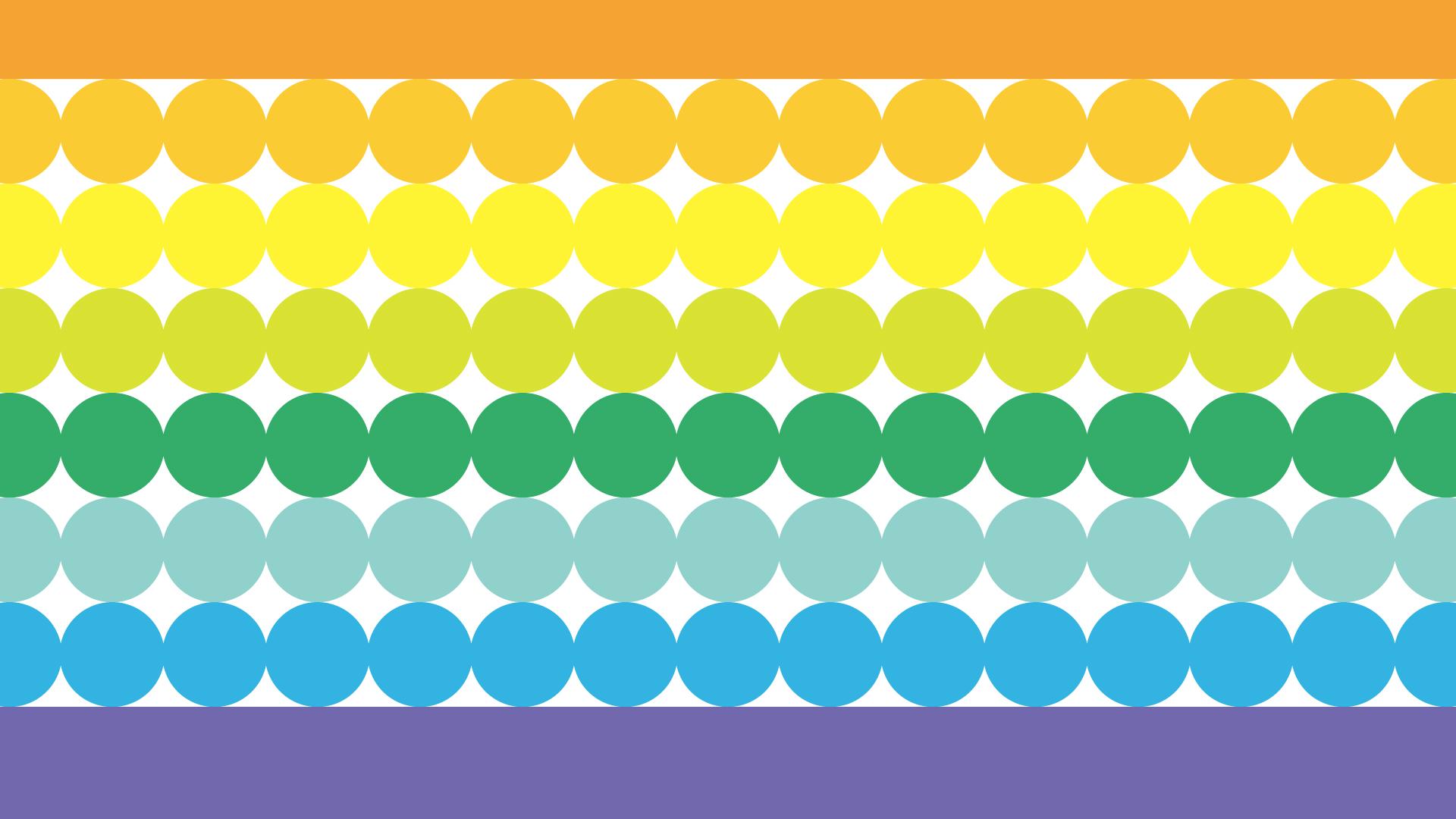 カラフルな丸グラデーションの壁紙・背景素材 1,920px×1,080px