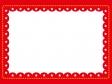 赤枠に星マークのフレーム・枠素材