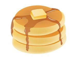 ホットケーキ・パンケーキのイラスト素材02