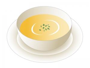 コーンスープのイラスト素材
