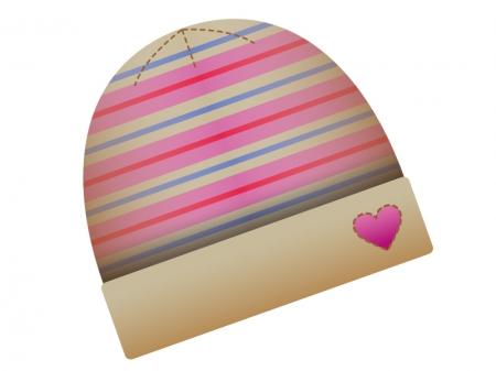 冬のニット帽のイラスト素材