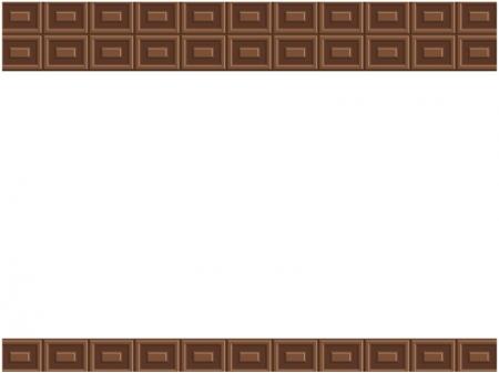 チョコレートのフレーム・枠イラスト