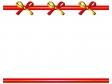 金と赤のリボンのフレーム・枠イラスト素材