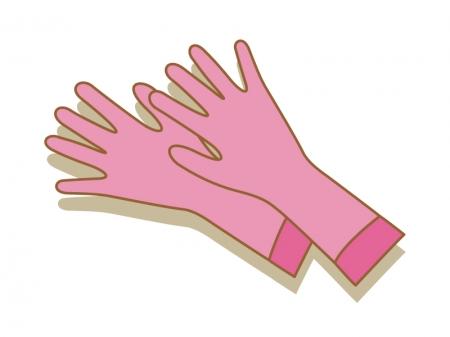 ゴム手袋・掃除のイラスト素材
