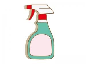 スプレー洗剤・掃除のイラスト素材