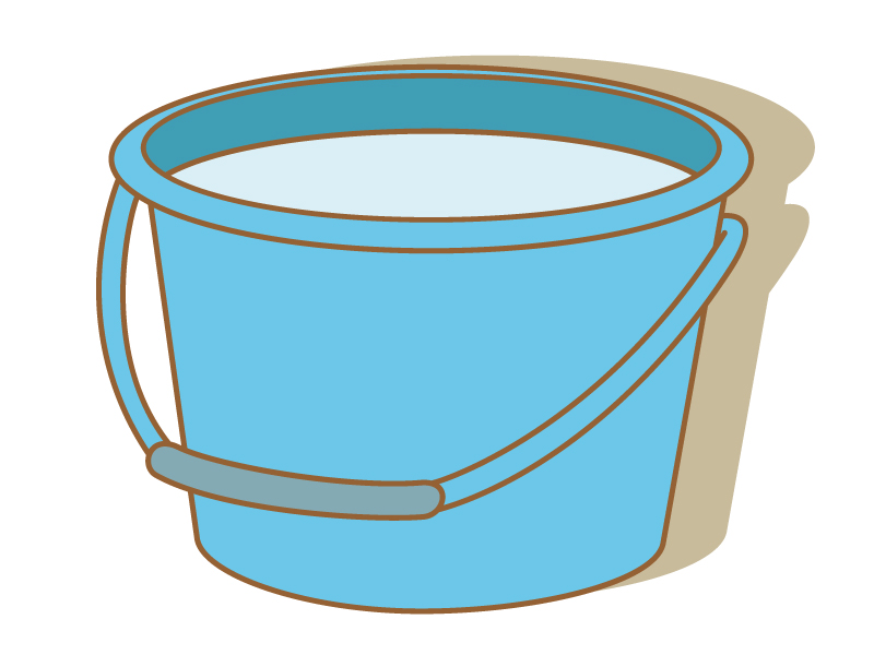バケツ・掃除のイラスト素材