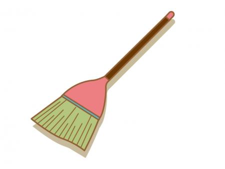 ホウキ・掃除のイラスト素材