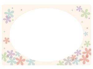 花のフレーム・飾り枠素材03
