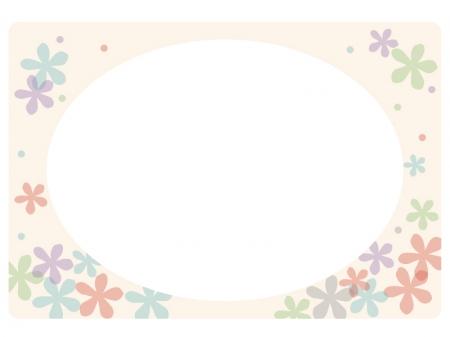 小学生 小学生 白地図 : 花のフレーム・飾り枠素材03 ...