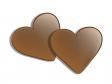 ハート型チョコレートのバレンタインイラスト素材02