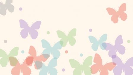 パステル調の蝶々の壁紙・背景素材 1,920px×1,080px