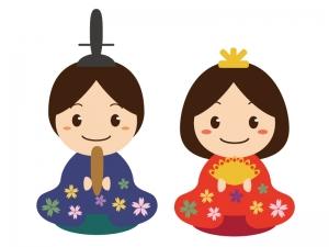 お雛さま・雛祭りのイラスト素材03