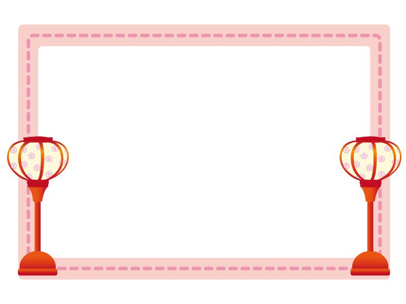 雛祭りのフレーム・枠のイラスト素材