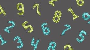 発光しているカラフルな数字の壁紙・背景素材 1,920px×1,080px