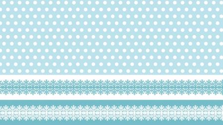 水玉模様とレース柄の壁紙・背景素材 1,920px×1,080px
