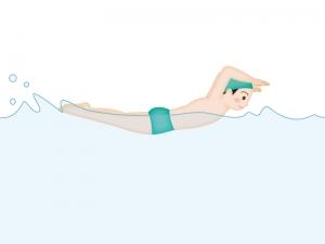 水泳・バタフライのイラスト素材