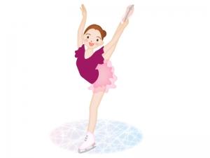 フィギュアスケート女子のイラスト素材
