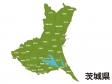 茨城県(市町村別)の地図イラスト素材