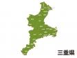 三重県(市町村別)の地図イラスト素材