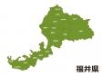 福井県(市町村別)の地図イラスト素材