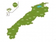 島根県(市町村別)の地図イラスト素材