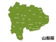 山梨県(市町村別)の地図イラスト素材
