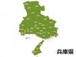 兵庫県(市区町村別)の地図イラスト素材