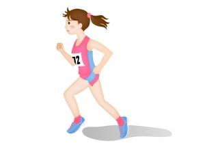 陸上マラソン・女子のイラスト素材