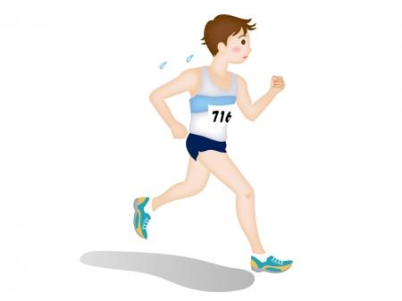 陸上マラソン・男子のイラスト素材