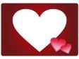 バレンタイン・ハートのフレーム・枠素材